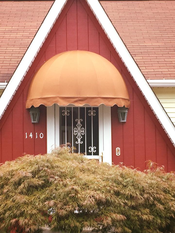 Dome Window Awnings : Country canvas awnings dome