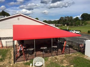 Welded Frame Awning Canopy